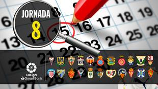 Segunda division: horario y donde ver los partidos de la jornada 8 -...