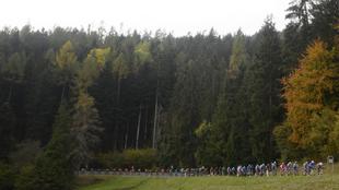 18ª etapa del Giro de Italia en los Alpes.