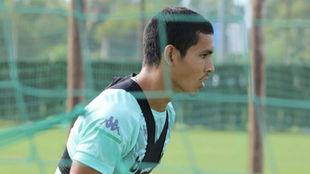 Mandi, en un entrenamiento