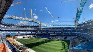 El Santiago Bernabéu, en obras
