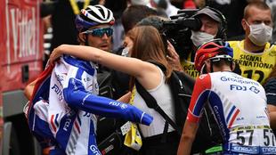 Thibaut Pinot durante una etapa del Tour de Francia 2020