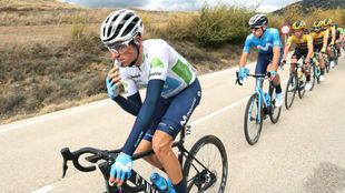Enric Mas durante la segunda etapa de LaVuelta.