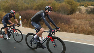 Chris Froome durante la tercera etapa de la Vuelta a España.
