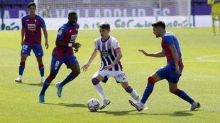 Toni Villa frente al Eibar en la tercera jornada de LaLiga Santander.