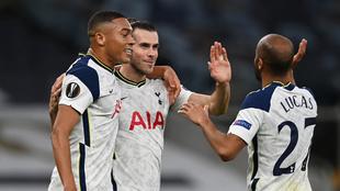 Gareth Bale en el duelo del Tottenham.