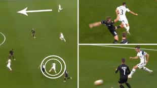 Reguilón conduce la jugada, Bale pone el centro y gol del Tottenham... ¡en propia!