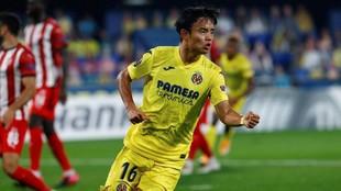 Take Kubo celebra su tanto ante el Sivasspor.