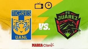 Tigres vs FC Juárez: Horario y dónde ver online por internet la Liga...