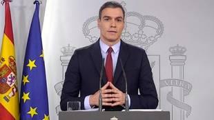 Comparecencia Pedro Sanchez en directo - estado de alarma - toque de...