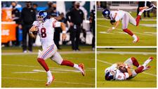 El blooper del año en la NFL: Daniel Jones se escapa 80 yardas... ¡y cae víctima de las 'hormigas tackleadoras'!