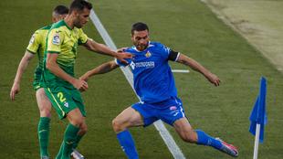 Jorge Molina con el Getafe CF en un partido ante el Eibar la pasada...
