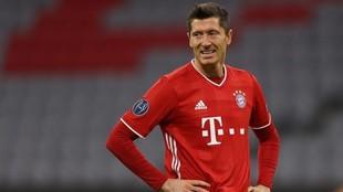 Lewandowski, durante un partido con el Bayern Múnich.
