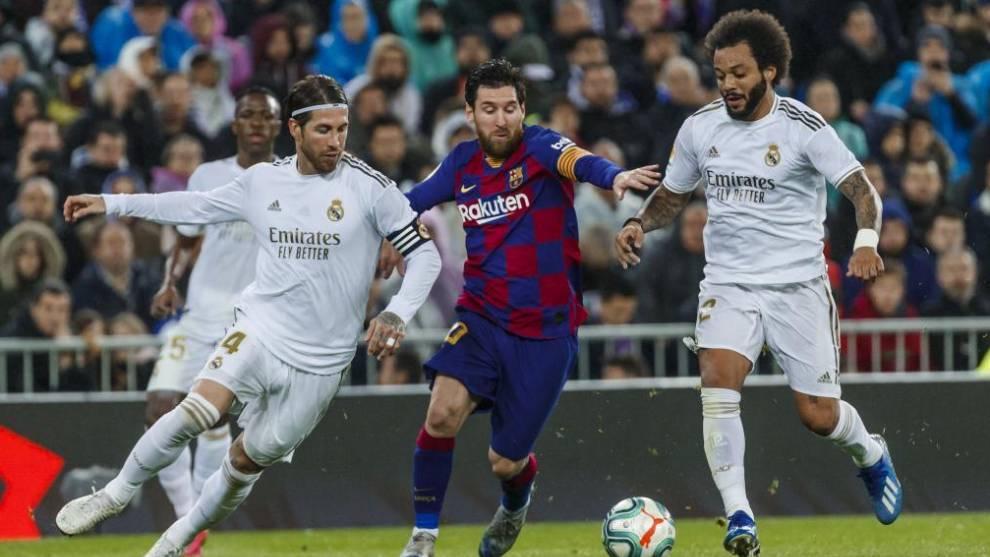 Sergio Ramos, Messi and Marcelo.