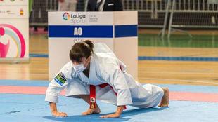 Sandra Sánchez, en la primera ronda de la Liga Iberdrola.