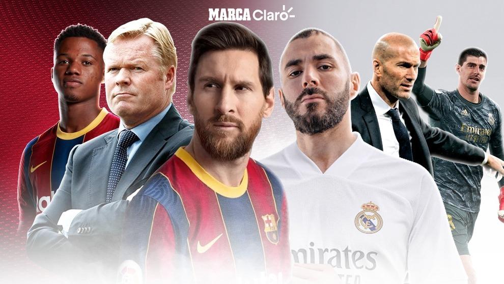 Las claves del Clásico español 2020 entre Barcelona y Real Madrid. |