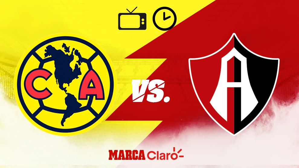 America vs Atlas, hora y donde ver en vivo por internet la Liga MX hoy...