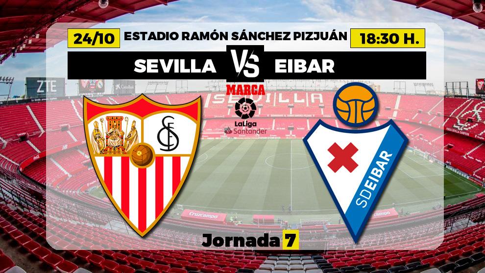 Sevilla-Eibar: horario del partido de la jornada 7 de Liga