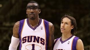 Amar'e Stoudemire y Steve Nash, en su etapa en los Suns.