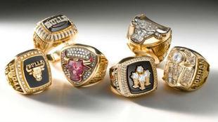 El valor de la historia: los seis anillos de los Bulls se venden por 225.000 dólares