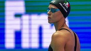 Federica Pellegrini, durante los Mundiales 2019 en los que gano el oro...