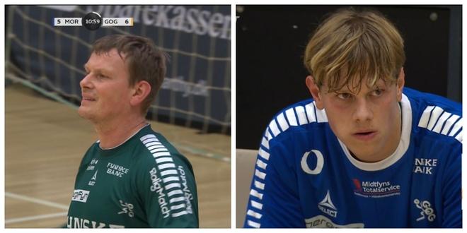 Los Haagen, padre e hijo, juegan juntos un partido de la Liga danesa