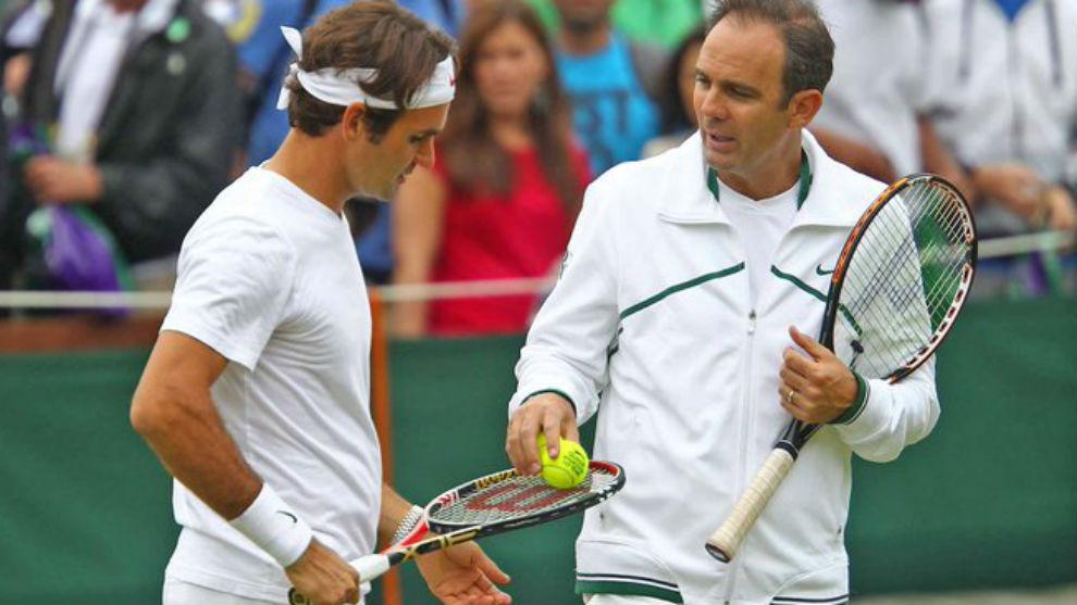 Annacone, cuando era entrenador de Federer