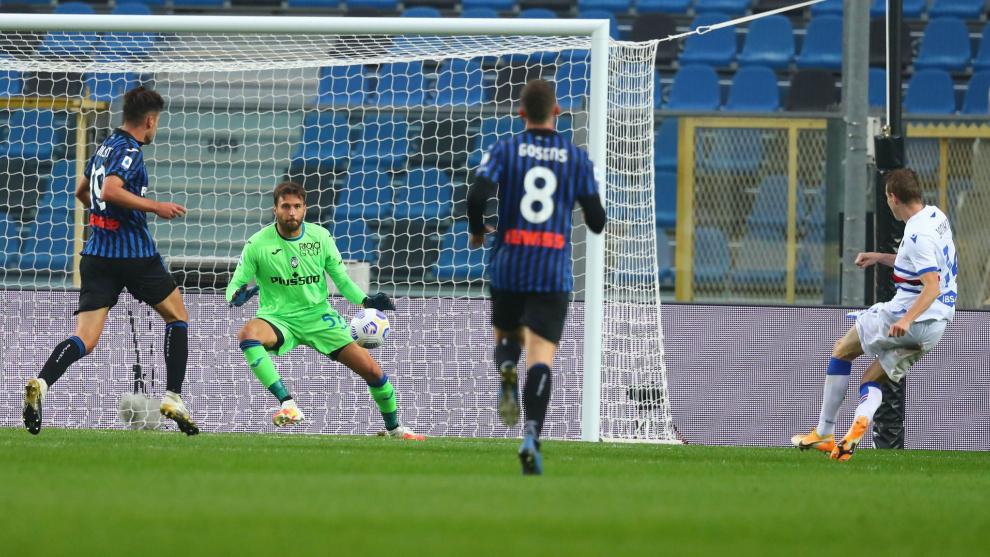 Jankto marca el 1-3 para la Sampdoria