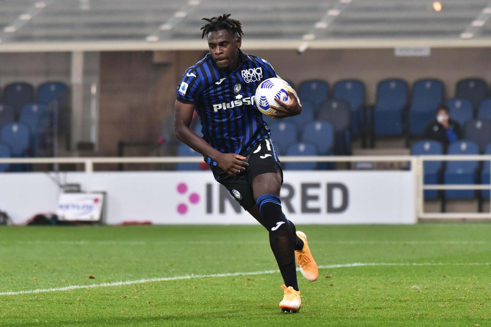 Zapata celebra su gol a la Sampdoria