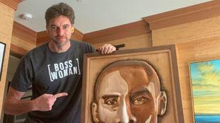 """Pau Gasol y la obra de arte a """"mi hermano Kobe"""""""