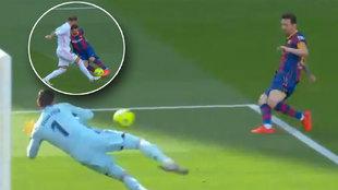 Courtois evitó la genialidad completa de Messi: traje de Leo a Sergio Ramos y...