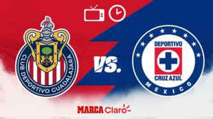 Chivas vs Cruz Azul: Horario y dónde ver en vivo.