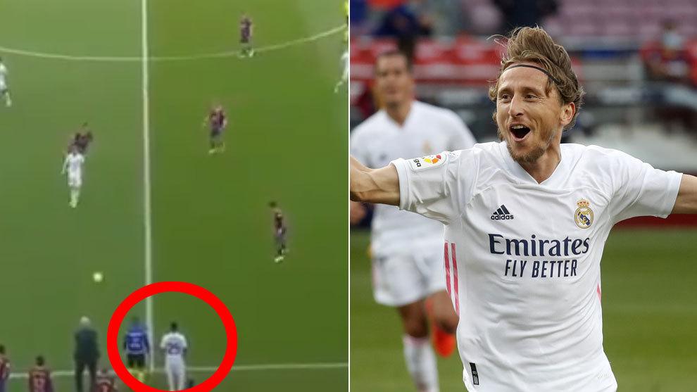 Rodrygo teases Modric for his mistaken pass