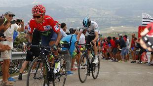 Nairo y Froome durante una Vuelta a España