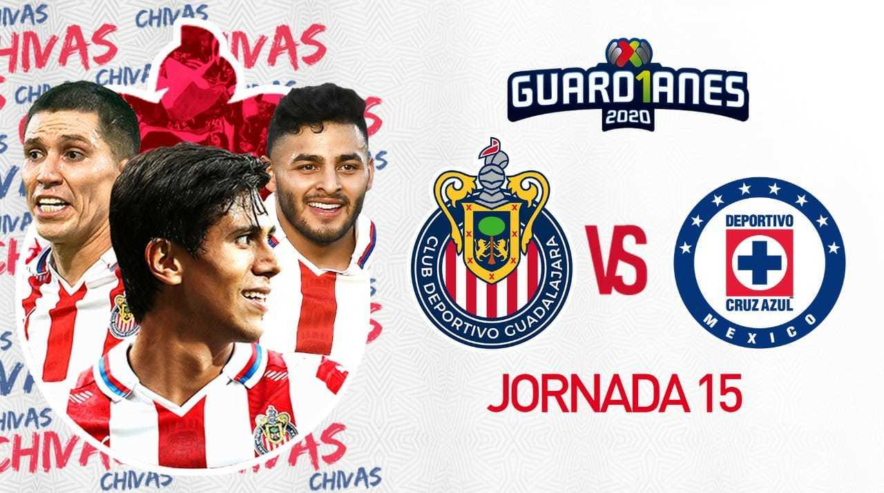 Chivas vs Cruz Azul: streaming en vivo del duelo de la jornada 15 del Apertura 2020