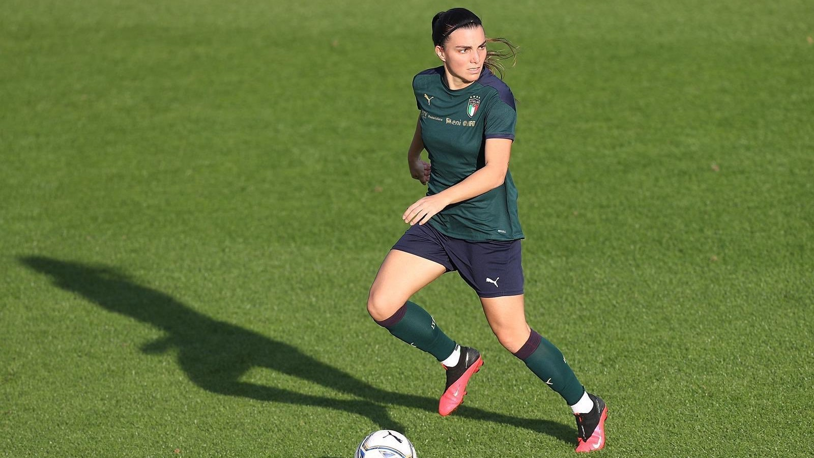 Alia Guagni durante un entrenamiento con la selección italiana.