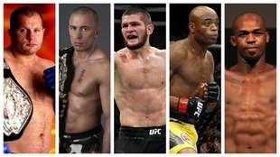 Emelianenko, St-Pierre, Khabib, Silva y Jones.