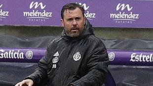 Sergio González durante el Valladolid-Alavés