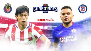 Chivas vs Cruz Azul transmisión en vivo.