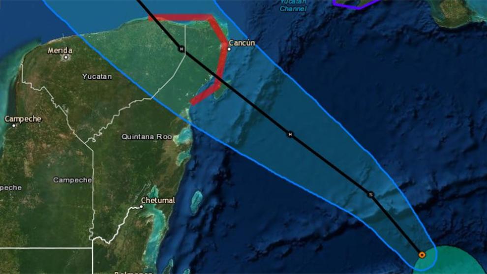 Se establecen zonas de alerta, por efectos de huracán.