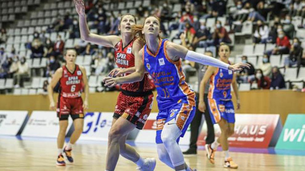 Laura Gil durante el partido ante el Girona