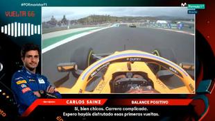 """Sainz se queda con lo positivo de una """"carrera complicada""""."""