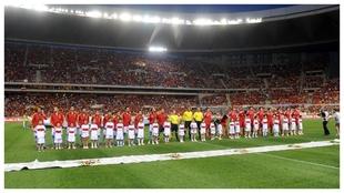 Imagen del España-China de 2012, última visita de la selección a La...