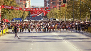 La salida de la carrera de Canillejas a finales de los 90