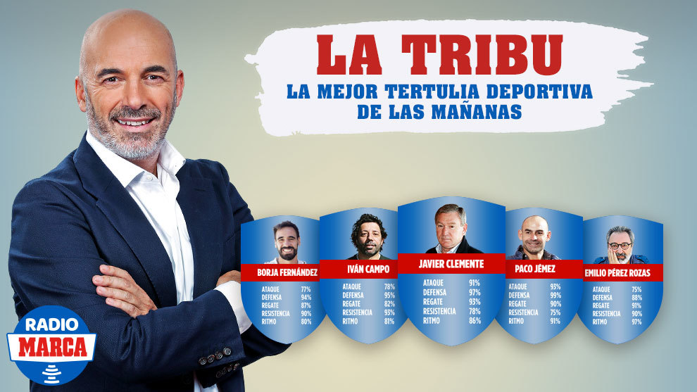 Clemente, Paco Jémez, Iván Campo, Pérez de Rozas y Borja, en la nueva Tribu