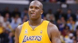 Shaquille O'Neal, durante su etapa en los Lakers.