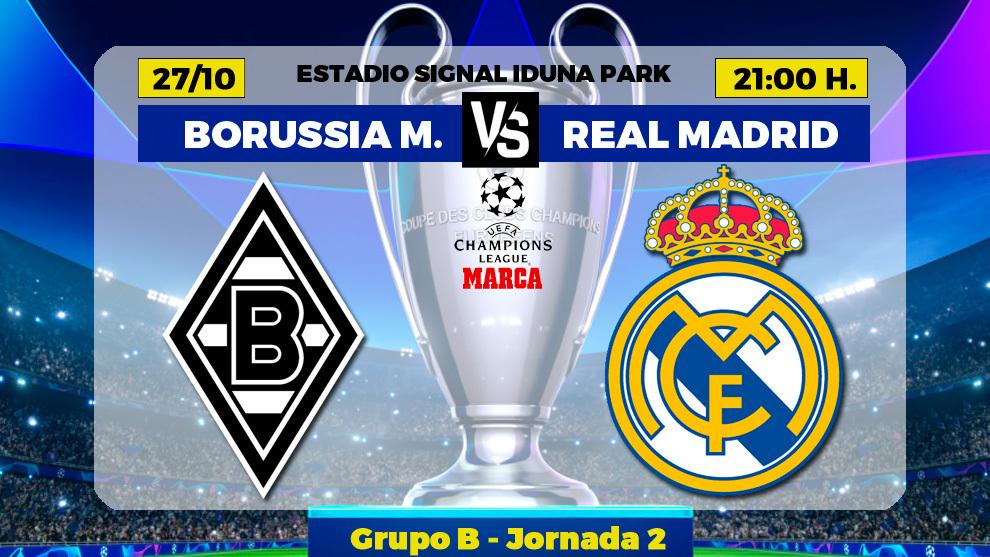 Borussia Mönchengladbach - Real Madrid: horario y donde ver por TV el...