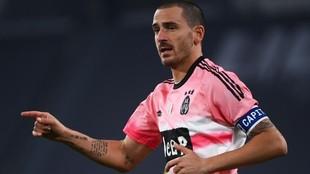 Bonucci, durante el partido ante el Hellas Verona.