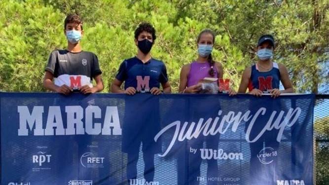 Campeones y finalistas en el Royal Tennis Club de Marbella