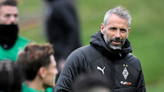 Moenchengladbach's head coach Marco Rose.