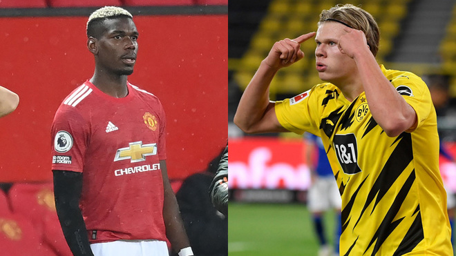 Paul Pogba and Erling Haaland.
